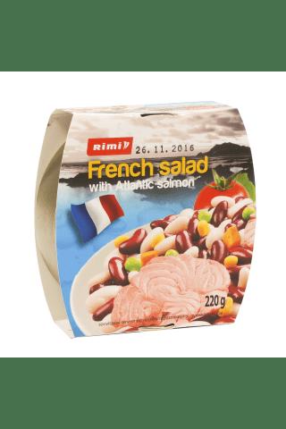 Prancūziškos salotos su atlantine lašiša RIMI, 220 g
