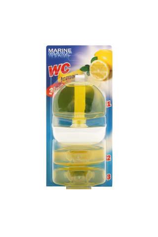 Tualetes bloks Marine ar citronu aromātu 3x55ml