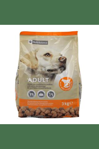 Sausas šunų ėdalas su jautiena ir daržovėmis NUTRIBALANCE, 3 kg