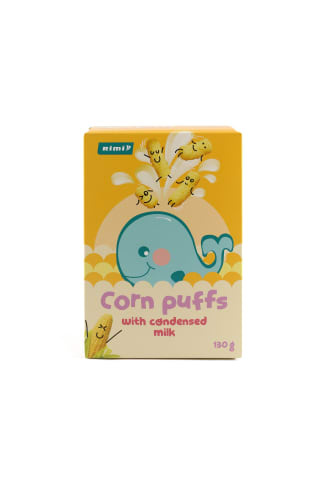 Saldžios kukurūzų lazdelės su kondensuotu pienu RIMI, 130 g