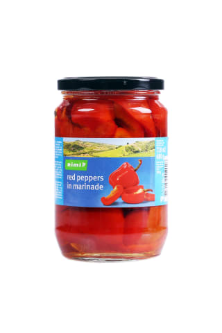 Sarkanā paprika,Rimi ,marinādē 680g/350g
