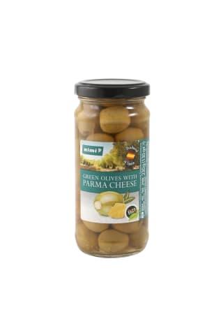 Zaļās olīvas Rimi ar Parmas sieru 230g
