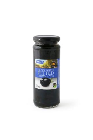 Melnās olīvas Rimi bez kaul. 345/160 g