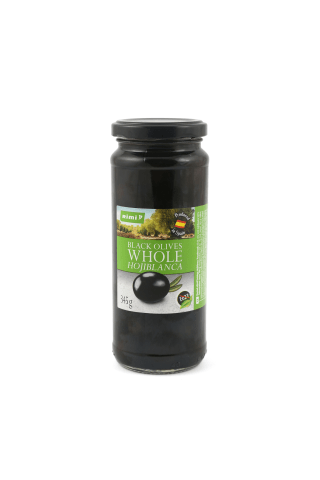 Juodosios alyvuogės su kauliuku RIMI HOJIBLANCA, 345 g