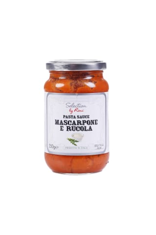 Padažas makaronams su maskarponės sūriu ir gražgarstėmis SELECTION BY RIMI, 350 g