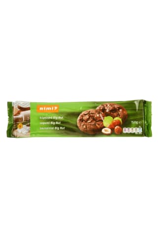 Sausainiai su riešutais RIMI, 150 g