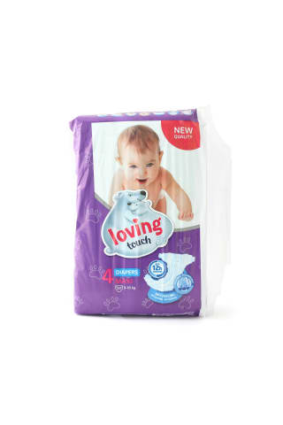 Sauskelnės LOVING TOUCH SOFT&DRY MAXI (4) 9-18 kg, 50 vnt.