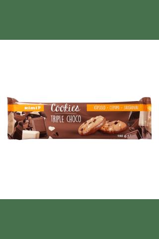 Sausainiai su pienišku, juoduoju ir baltuoju šokoladu RIMI, 180 g