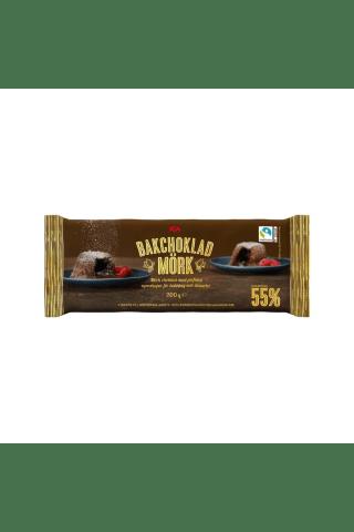 Juodasis šokoladas kepiniams ICA, 200 g