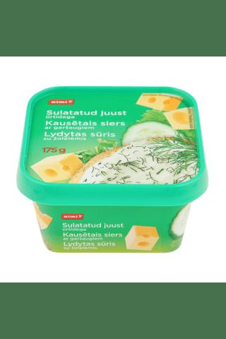Kausētais siers Rimi ar zaļumiem 23% 175g