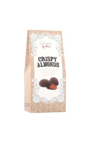 Dražė traškūs migdolai su pieniniu šokoladu, padengti cukraus pudra SELECTION BY RIMI, 100 g