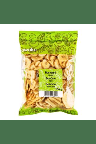 Bananų traškučiai AWAKE, 200 g