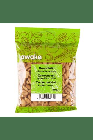 Kepinti ir sūdyti žemės riešutai AWAKE, 150 g