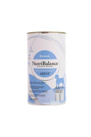 Suņu konservi Grrreat NutriBalance vistas 1.24kg