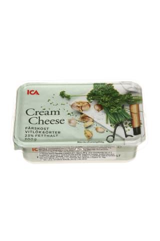 Kreminis sūris su česnakais ir žolelėm ICA, 200 g