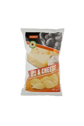 Grietinės ir sūrio skonio traškučiai RIMI, 150 g