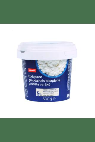 Varškės grūdeliai RIMI, 5% rieb., 500 g