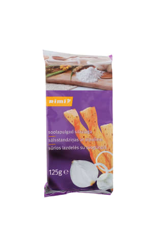 Sūrios lazdelės su svogūnias RIMI, 125 g