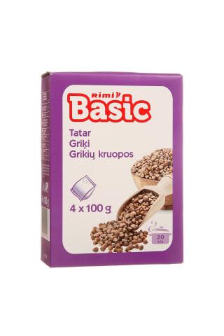 Grikių kruopos RIMI BASIC, 4 pak. × 100 g, 400 g