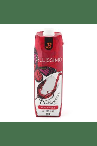 Sarkanvīns Bellissimo pussaldais 10,5% 1L
