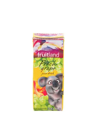 Sulčių gėrimas FRUITLAND Persikų ir vynuogių 20% rieb., 0,2 L