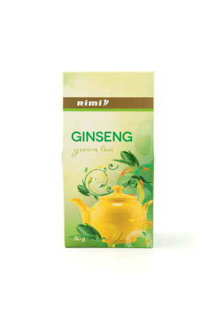 Aromatizuota ženšenio skonio žalioji arbata RIMI 80 g