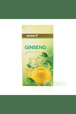 Tēja zaļā ar ženšeņa garšu RIMI 80g.