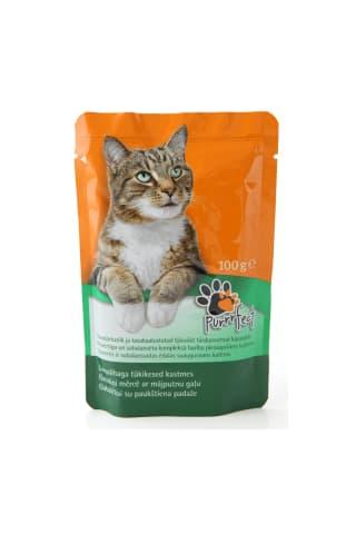 Kačių ėdalas paukštiena padaže PURRRFECT, 100 g