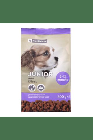 Pilnvērtīga un sabalansēta kompleksā barība suņiem, junioriem Nutribalance 0,5 kg