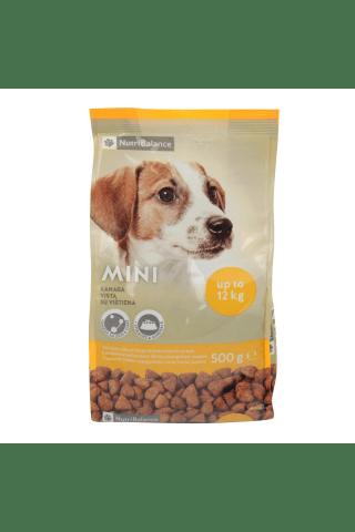 Pilnvērtīga un sabalansēta kompleksā barība pieaugušiem mazo šķirņu suņiem MINI Nutribalance 0,5 kg