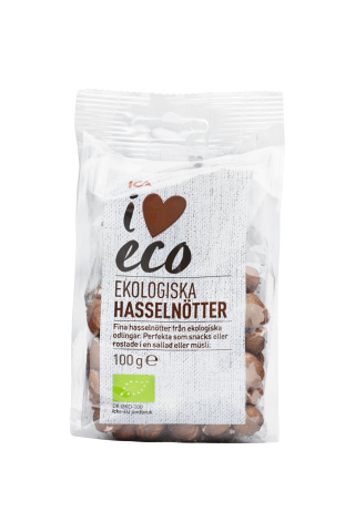 Ekologiški lazdynų riešutai I LOVE ECO, 100 g