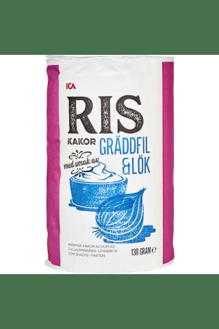 Rīsu galetes ICA, ar skābā krējuma un sīpolu garšu 130g