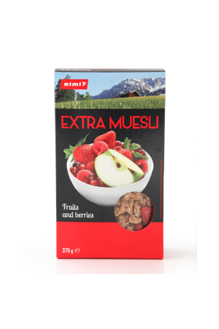 Kraukšķīgs muslis Rimi Extra Fruits and berries 375g