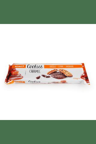 Sausainiai su 20% karamelės įdaru, 20% pieniško šokolado ir 8% juodojo šokolado gabaliukais RIMI CARAMEL, 175 g