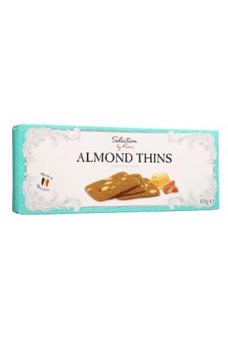 Sviestiniai sausainiai su migdolais SELECTION BY RIMI ALMOND THINS, 100 g
