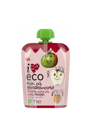 Biezenis I Love Eco burkānu, mango, ābolu no 6 mēnešiem 90g
