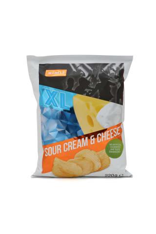 Kartupeļu čipsi ar skābā krējuma un siera garšu Rimi, 220g