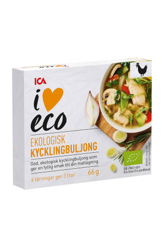 Ekologiškas vištienos sultinys ICA I Love Eco, 66g