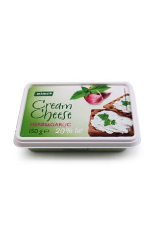 Šviežias sūris su česnakais RIMI, 20% rebumo, 150g