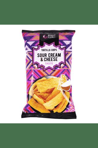 Grietinės ir sūrio skonio tortilijos traškučiai RIMI, 200g