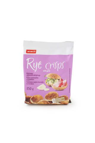 Traškiosios ruginės duonelės su česnakais Rimi 150 g