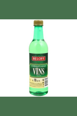 Stiprināts augļu vīns Beloff balts 18% 0,5l