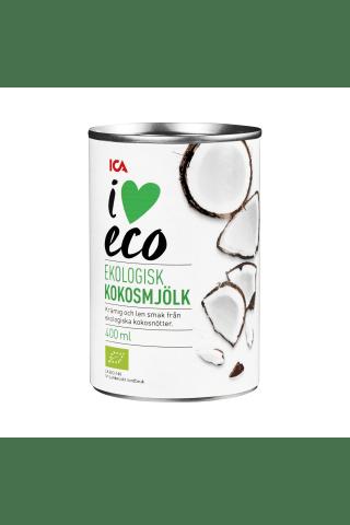 Ekologiškas  kokosų pienas I LOVE ECO, 400 ml