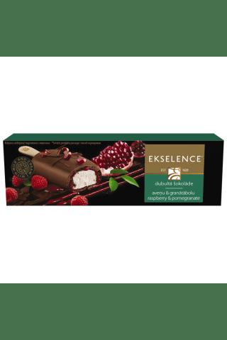Saldējums Ekselence pārklāts ar aveņu-granātābolu mērci un piena šokolādi Ekselence 110ml