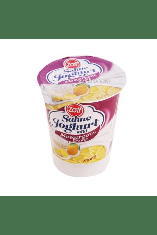 Zott krējuma jogurts mascarpone duett (ķiršu-vaniļas; amarena-ķirši; apelsīns-mango; citrons)