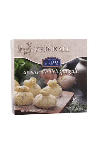 Khinkali ar jēra un liellopa gaļu 400g
