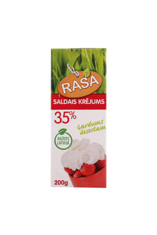 Saldais krējums Rasa UHT 35% 200g
