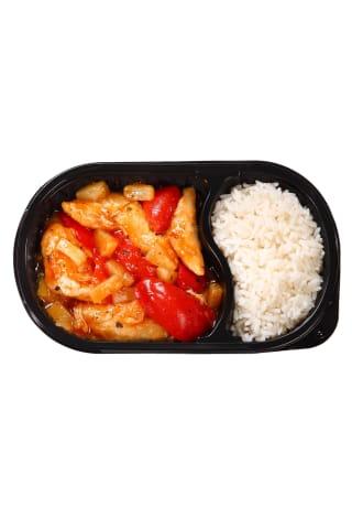 Saldžiarūgštis vištienos troškinys su ryžiais, 450 g
