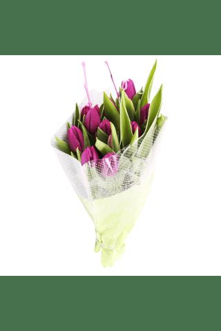 Tulpju pušķis, 40cm, 17 ziedi