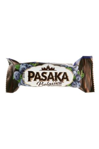 Belgišku šokoladu glaistytas varškės sūrelis su mėlynėmis PASAKA, 22% rieb., 45 g